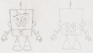SpongeTron Front and Back by dannyfangirl