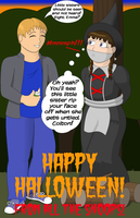 Halloween Sibling Rivalry OTM Gag Variation by MisterMistoffelees