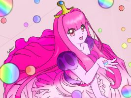 Princess Bubblegum Candy Rain by PumpkinChans