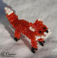Bead Fox 1, Red Fox by hermitworm