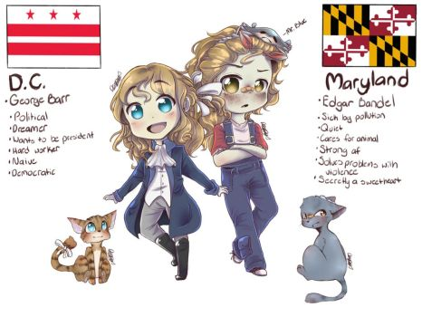 Hetalia Maryland and D.C. [OCs] by DerpySpringy