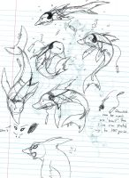 Shark..dolphin..doodles. by Lorena677