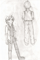 Aaron and Trisha Elric: Side A [pencil] by PrettySoldierPetite