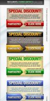 Web Elements - Banners PSD by djnick2k