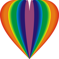 Rainbow balloon heart 14pc2 by Dr-Yukon