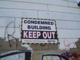 condemned sign 2 by Yeelka-Stock