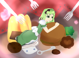 GUMI - eat me ~ by sawarineko