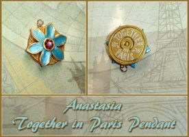 Anastasia - Together in Paris Necklace Pendant by YellerCrakka