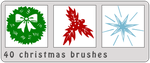 40 Christmas Brushes by bystrawbrry