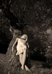 Tinuviel at the tree by Jibril85