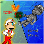 Mario VS metal Mario by ruseau