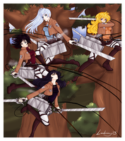Attack On Titan RWBY crossover by Lambentworld