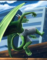 Parkour Dragon by ALRadeck