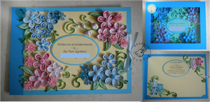 Quilling - preschool card 2 by Eti-chan