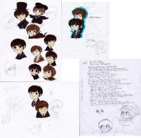 THE BEATLES BIG SKETCHDUMP by rompopita