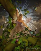 Fairies Play On Beanstalks by PaintedOnMySoul
