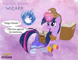DnD MLP:  Twilight Sparkle - the Wizard by DR-Studios