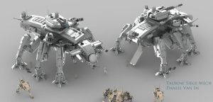 Taurine Siege Mech by Quesocito