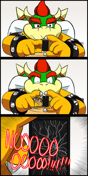 Bowser's big problem for his tiny phone by coDDRy