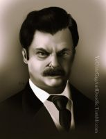Ron F****** Swanson by TwoStripTechnicolor