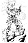 Space Adventure Lizzan BY Ben Dunn by JasonCanty