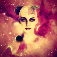 Cosmic Lady by chethmanmo