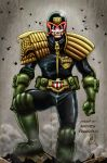 Judge Dredd (colors) by FantasticMystery