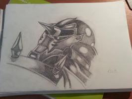 Alphonse elric quick suit drawing by flaviudraghis