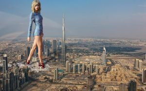 Gigantic Taylor Swift in Dubai by massiveGTS