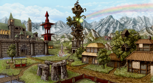 Sorceress town by AshiRox