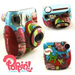 Sweets Painted Polaroid Camera by PoppinCustom