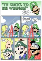 Sucks to be Luigi: Portrait by kevinbolk