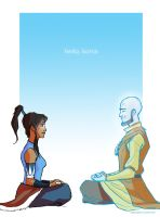Korra And Aang by EmpressFunk