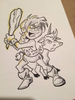 Bobby The Barbarian inktober by BillWalko