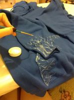 WIP Jack Frost cosplay hoodie - step 2 by the-ALEF