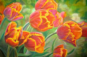 Bright tulips by YourAngel5