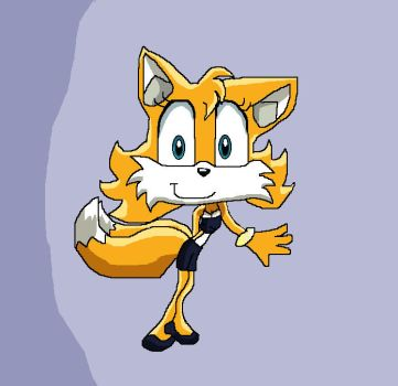 Girl Tails Sonic x by PowderPuffBunny