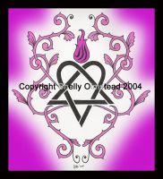 Pink heartagram one by PoisonAlice