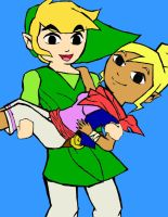 Link and Tetra by rpgfan713