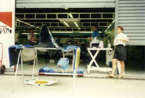 Mild Seven Benetton Renaul Garage (Italy 1995) by F1-history