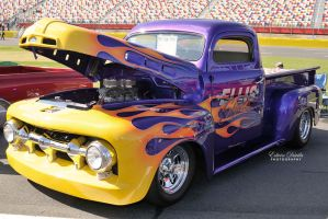 1952 Flamed Ford Pickup by E-Davila-Photography