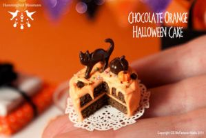 Miniature Chocolate Orange Halloween Cake by CaroMcFW