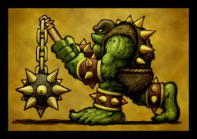 Ogre With Morning Star by VegasMike