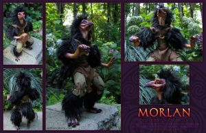 Morlan the Raven Dancer - Doll by bonegoddess