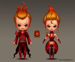 Chibi Fire Mage by DmitryGrebenkov