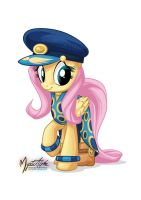 Fluttershy as Admiral Fairy Flight by mysticalpha