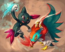 Pokemon : Hawlucha vs Sneasel