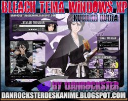 Kuchiki Rukia Theme Windows XP by Danrockster