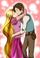 .:Rapunzel and Flynn:. by Lonely-Mitsukai