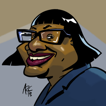 Diane Abbott Caricature by WesleyRiot